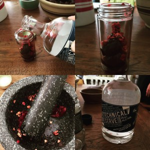 Cherry Bitters Being Made